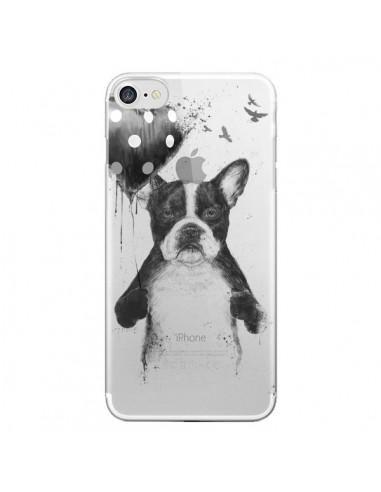 Coque Love Bulldog Dog Chien Transparente pour iPhone 7 - Balazs Solti