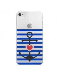 Coque Mariniere Ancre Marin Coeur Transparente pour iPhone 7 - Jonathan Perez