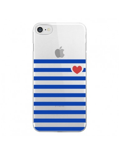 Coque Mariniere Coeur Love Transparente pour iPhone 7 - Jonathan Perez