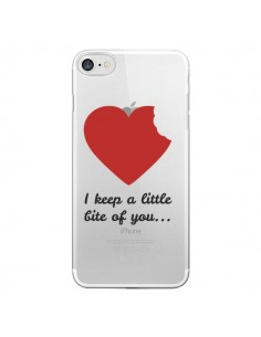 Coque I keep a little bite of you Love Heart Amour Transparente pour iPhone 7 - Julien Martinez