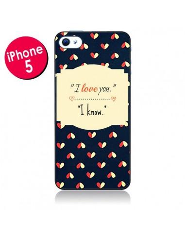 Coque I love you pour iPhone 5 - R Delean