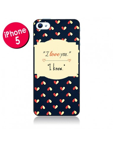 Coque I love you pour iPhone 5 - R Delean