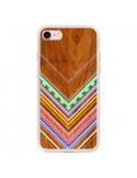 Coque iPhone 7 et 8 Azteque Arbutus Pastel Bois Aztec Tribal - Jenny Mhairi