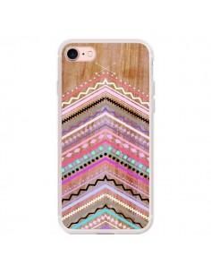 Coque iPhone 7/8 et SE 2020 Purple Chevron Wild Wood Bois Azteque Aztec Tribal - Jenny Mhairi