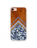 Coque iPhone 7 et 8 Sequin Geometry Bois Azteque Aztec Tribal - Jenny Mhairi