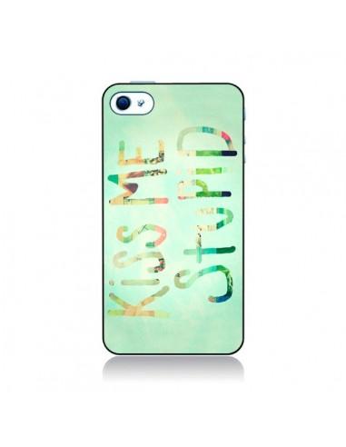 Coque Kiss Me Stupid pour iPhone 4 et 4S - R Delean