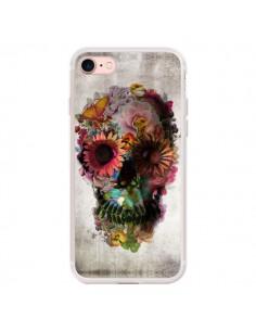Coque iPhone 7/8 et SE 2020 Skull Flower Tête de Mort - Ali Gulec