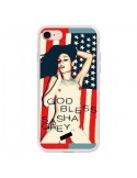 Coque God Bless Sasha Grey Actrice USA pour iPhone 7 et 8 - Bertrand Carriere