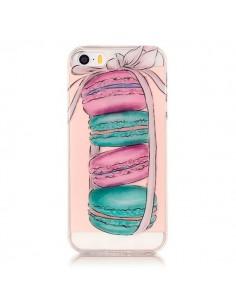 Coque iPhone 5/5S et SE Macarons Transparente en silicone semi-rigide TPU