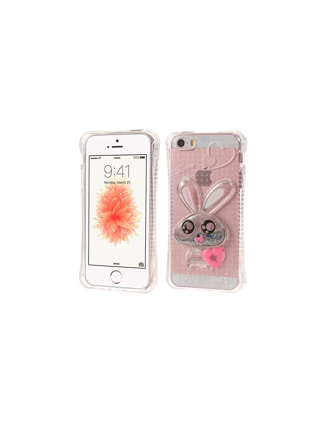 coque iphone xr silicone transparente paillette