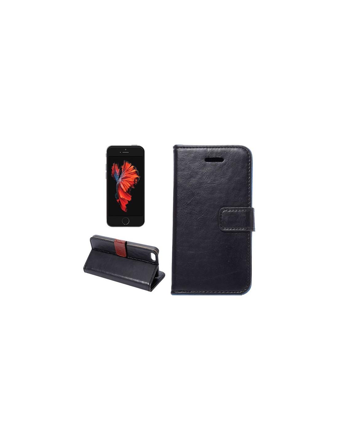 Etui portefeuille simili cuir luxe pour iphone 5 5s et se for Coque iphone 6 portefeuille