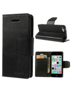 Etui Portefeuille Simili Cuir Luxe pour iPhone 5C