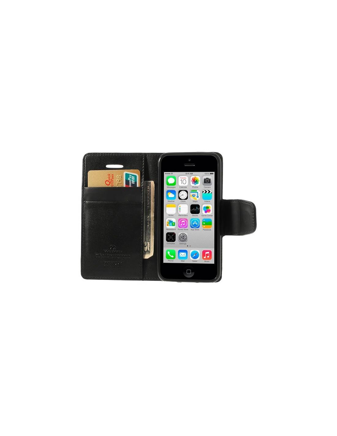 etui portefeuille simili cuir luxe pour iphone 5c. Black Bedroom Furniture Sets. Home Design Ideas