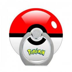 Bague Support à Anneau Rotatif Pokeball en Forme de Bague pour Téléphone Adhésif