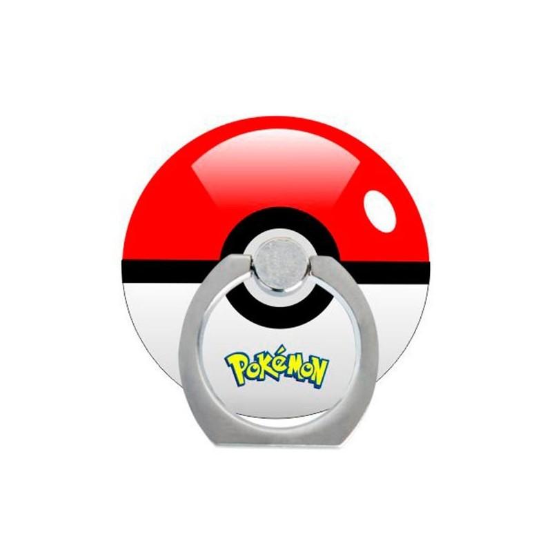 Support Rotatif Pokeball en Forme de Bague pour Téléphone Adhésif
