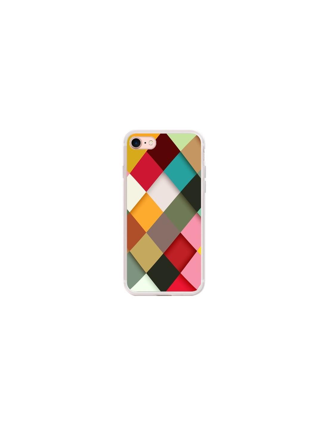Coque iPhone 7/8 et SE 2020 Colorful Mosaique - Danny Ivan