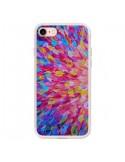 Coque iPhone 7 et 8 Fleurs Bleues Roses Splash - Ebi Emporium
