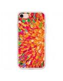 Coque iPhone 7 et 8 Fleurs Oranges Neon Splash - Ebi Emporium
