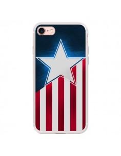 Coque iPhone 7/8 et SE 2020 Captain America - Eleaxart