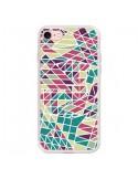 Coque Azteque Triangles Vert Violet pour iPhone 7 et 8 - Eleaxart