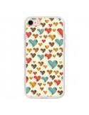 Coque Coeurs Colorés pour iPhone 7 et 8 - Eleaxart