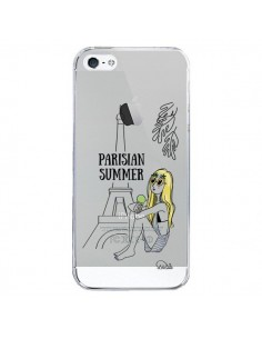 Coque iPhone 5/5S et SE Parisian Summer Ete Parisien Transparente - Lolo Santo