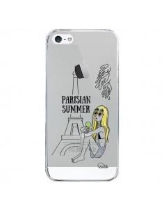 Coque Parisian Summer Ete Parisien Transparente pour iPhone 5/5S et SE - Lolo Santo