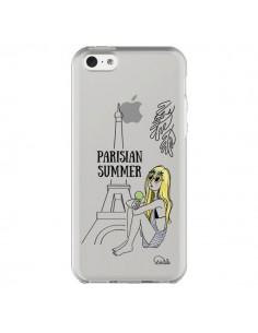Coque Parisian Summer Ete Parisien Transparente pour iPhone 5C - Lolo Santo