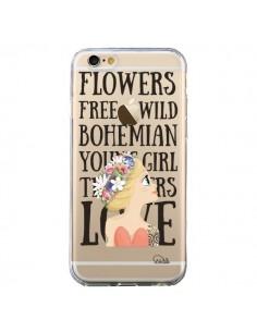 Coque iPhone 6 et 6S Flowers Love Transparente - Lolo Santo