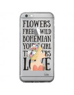 Coque iPhone 6 Plus et 6S Plus Flowers Love Transparente - Lolo Santo