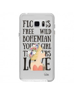 Coque Flowers Love Transparente pour Samsung Galaxy Note 5 - Lolo Santo