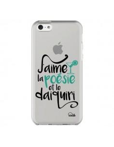 Coque J'aime la poésie et le daiquiri Transparente pour iPhone 5C - Lolo Santo