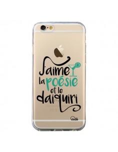 Coque iPhone 6 et 6S J'aime la poésie et le daiquiri Transparente - Lolo Santo