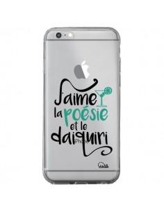 Coque iPhone 6 Plus et 6S Plus J'aime la poésie et le daiquiri Transparente - Lolo Santo