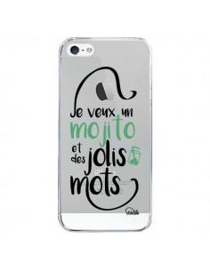 Coque Je veux un mojito et des jolis mots Transparente pour iPhone 5/5S et SE - Lolo Santo