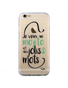 Coque iPhone 6 et 6S Je veux un mojito et des jolis mots Transparente - Lolo Santo