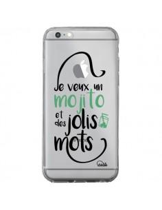 Coque iPhone 6 Plus et 6S Plus Je veux un mojito et des jolis mots Transparente - Lolo Santo