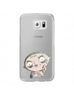 Coque Stewie Joker Suicide Squad Transparente pour Samsung Galaxy S6 Edge - Mikadololo
