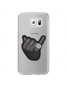 Coque OVO Ring bague Transparente pour Samsung Galaxy S6 Edge - Mikadololo
