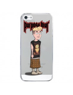 Coque iPhone 5/5S et SE Bieber Marilyn Manson Fan Transparente - Mikadololo