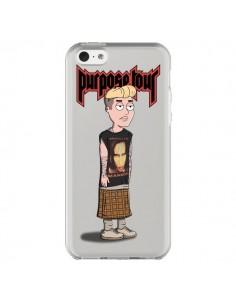 Coque iPhone 5C Bieber Marilyn Manson Fan Transparente - Mikadololo