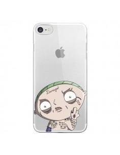 Coque iPhone 7/8 et SE 2020 Stewie Joker Suicide Squad Transparente - Mikadololo