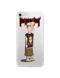 Coque iPhone 7/8 et SE 2020 Bieber Marilyn Manson Fan Transparente - Mikadololo