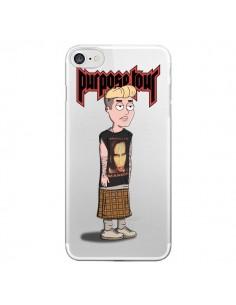 Coque iPhone 7 et 8 Bieber Marilyn Manson Fan Transparente - Mikadololo