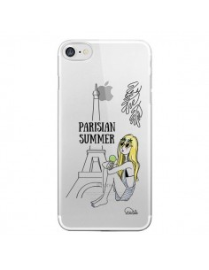 Coque iPhone 7/8 et SE 2020 Parisian Summer Ete Parisien Transparente - Lolo Santo