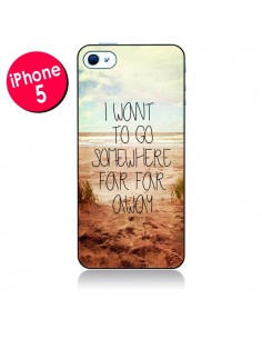 Coque I want to go somewhere pour iPhone 5 - Sylvia Cook