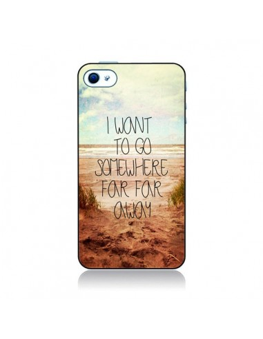 Coque I want to go somewhere pour iPhone 4 et 4S - Sylvia Cook