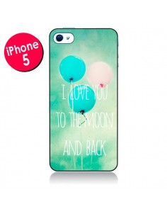 Coque I love you to the moon and back pour iPhone 5/5S et SE - Sylvia Cook