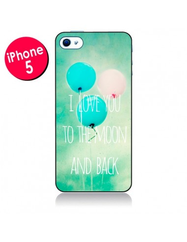 Coque I love you to the moon and back pour iPhone 5 - Sylvia Cook