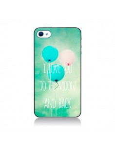 Coque I love you to the moon and back pour iPhone 4 et 4S - Sylvia Cook